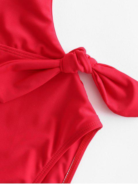 Слитный купальник с открытой спиной - Лава-красный S Mobile