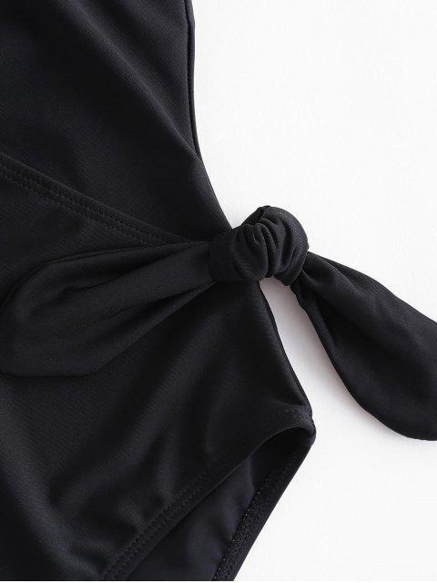 Слитный купальник с открытой спиной - Чёрный L Mobile