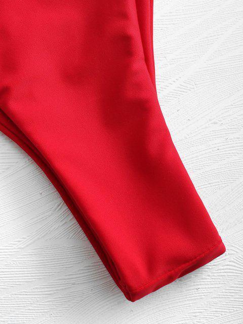 Gepolsterter Bandeau Bikini - Liebes Rot L Mobile