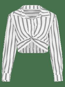 Rayas S Camisa Twist Blanco De pwqnX0x0g