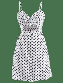 Blanco Polka M Smoked Back Dot Sundress AIxq5