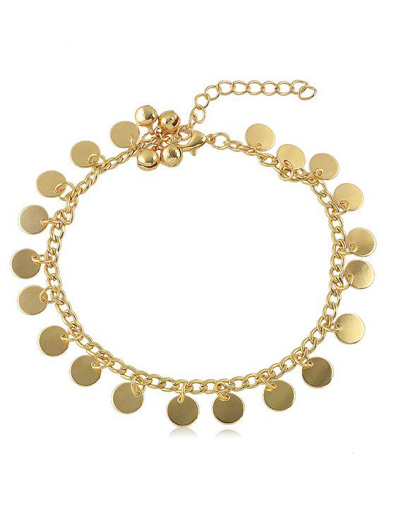 hot Bell Sequin Chain Anklet - GOLD