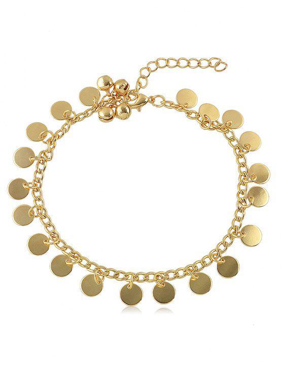 Tobillera de cadena de lentejuelas de campana - Oro