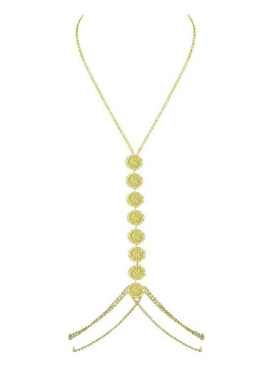 outfits Multi-layer Flower Body Chain - GOLD