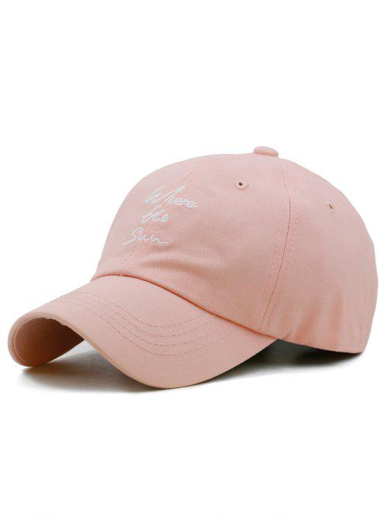 online Fun Letter Embroidery Adjustable Hunting Hat - LIGHT PINK