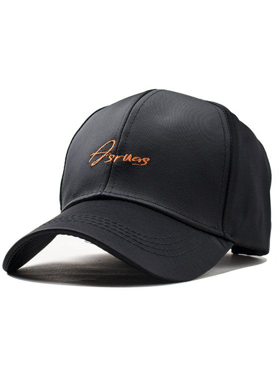 Sombrero bordado completamente ajustable de Snapback del bordado de la letra - Negro