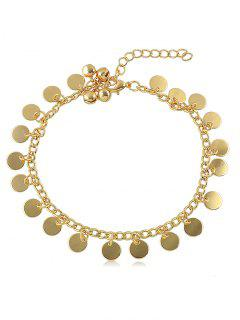 Bell Sequin Chain Anklet - Gold