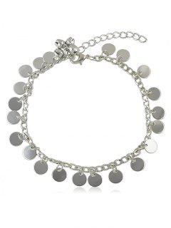 Bell Sequin Chain Anklet - Silver
