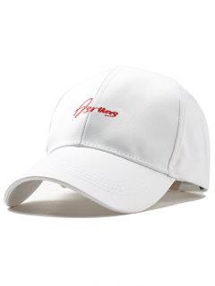 Letter Embroidery Fully Adjustable Snapback Hat - White