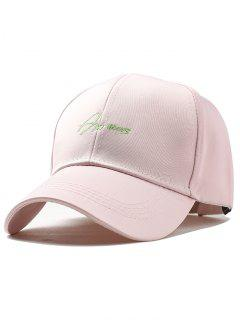 Letter Embroidery Fully Adjustable Snapback Hat - Pink