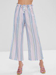 Ombre Striped Wide Leg Pants - Multi L