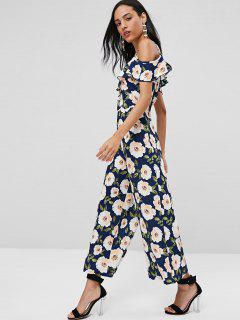 Cami Ruffles Cold Shoulder Jumpsuit - Multi L