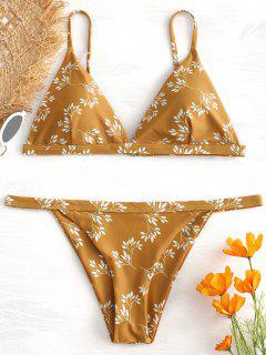 Bedruckter String Bikini - Orange Gold L