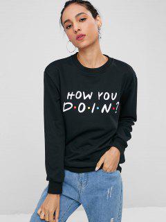 Cool Dots Graphic Sweatshirt - Black M