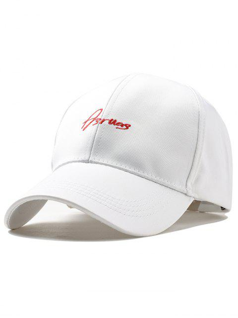 unique Letter Embroidery Fully Adjustable Snapback Hat - WHITE  Mobile