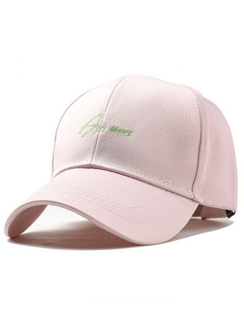 womens Letter Embroidery Fully Adjustable Snapback Hat - PINK  Mobile