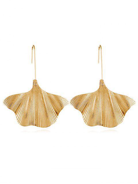 Stilvolle Legierung Blätter dekorative Haken Ohrringe - Gold  Mobile