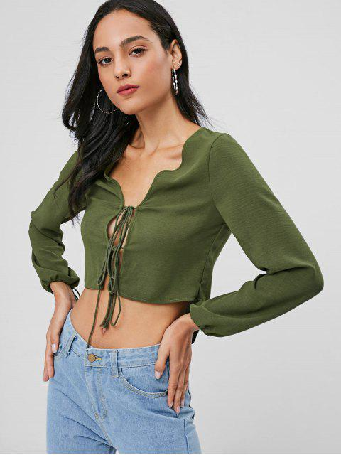 buy Knots High Low Top - ARMY GREEN L Mobile