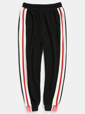 Kontrast Seitliche Streifen Taschen Jogger Hosen