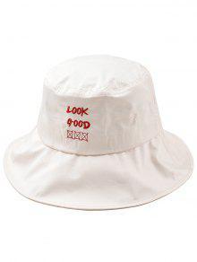 متعة إلكتروني التطريز دلو قبعة - اللون البيج