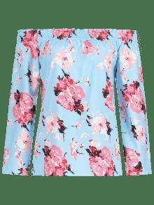 Blusa La Celeste De Hombros Fuera L Descubiertos Con Floral nSqOwx5x16