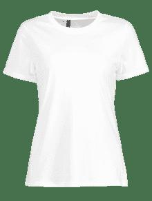 Enrollada M Sin Mangas Blanco Camiseta wOExBqw