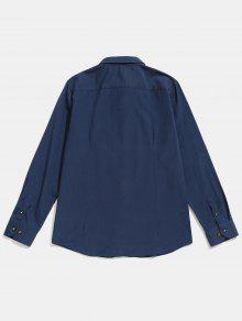 De Cadetblue Con Remendada A Camisa S Costuras Detalle Rayas 4FfqAn