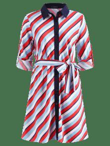 Leng Vestido De Con De Camisa Manga wn4FqgRU4