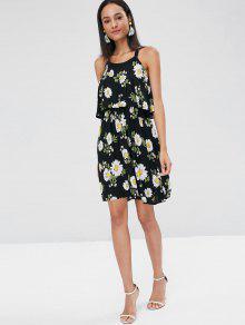 A Dress Daisy Line M Overlay Negro xH77wftq