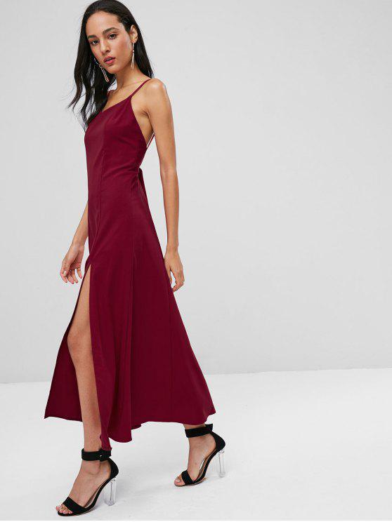 فستان مكسي بشق - الكرز الاحمر M