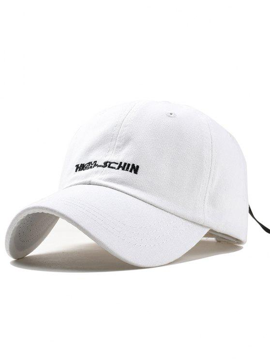 sale Outdoor Letter Embroidery Hunting Hat - WHITE