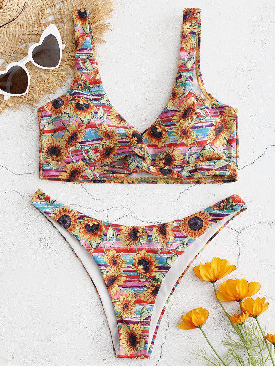 Girasol Twist Front Bikini - Multicolor S
