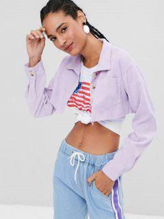 Button Up Corduroy Jacket - Wisteria Purple M