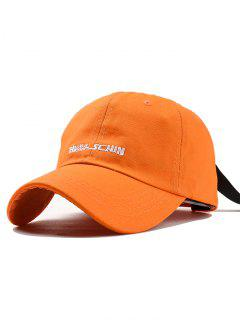 Outdoor Letter Embroidery Hunting Hat - Orange