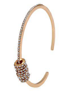 Rhinestone Decorated Cuff Bracelet - Gold