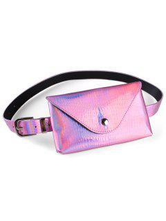 Fanny Pack Decorative Faux Leather Skinny Belt Bag - Pink