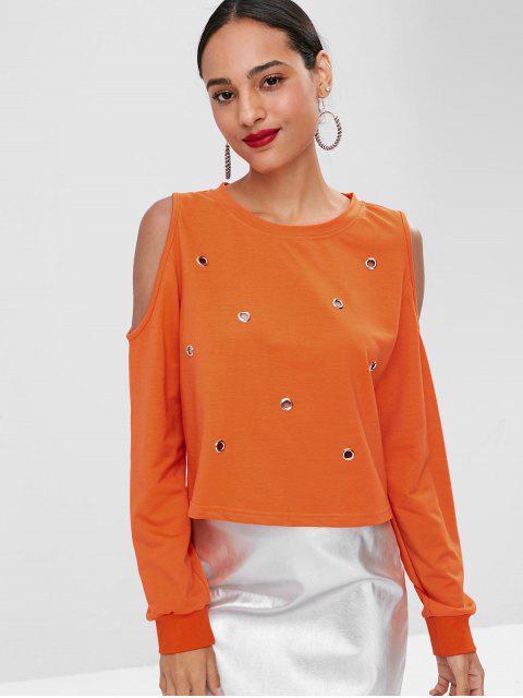 T-shirt à épaulettes froides - Orange L Mobile