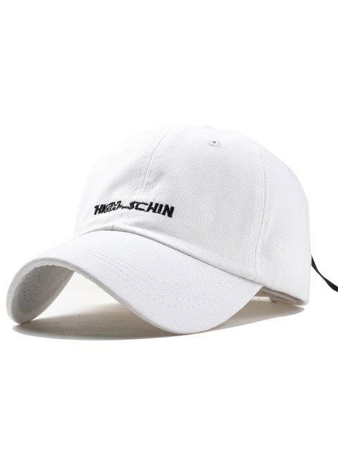 sale Outdoor Letter Embroidery Hunting Hat - WHITE  Mobile