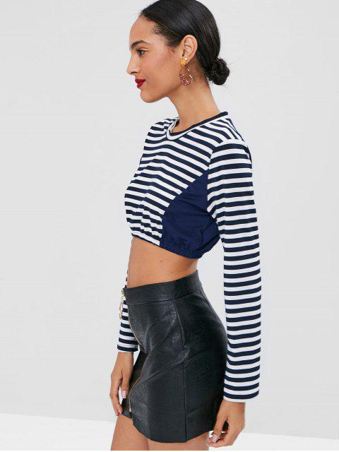 online Cropped Striped Top - MULTI M Mobile