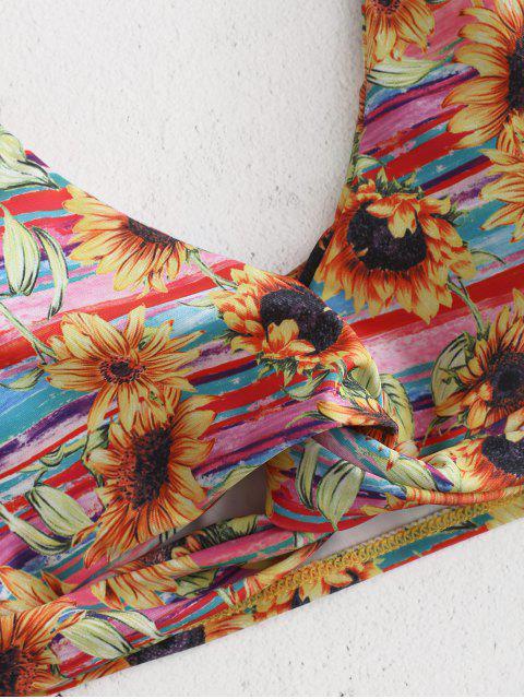 women Sunflower Twist Front Bikini - MULTI M Mobile