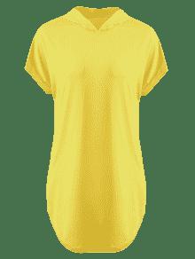 Ma 237;z De Amarillo Larga Camiseta Con Capucha L qn8wfXxARW