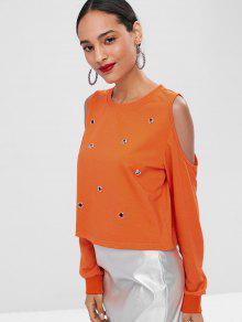 Fr S 237;o Camiseta Naranja En Con Ojal wqS6S8