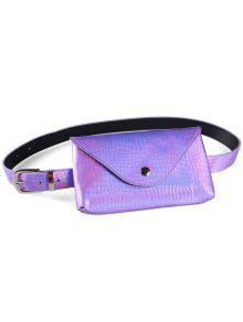 فاني حزمة الزخرفية فو جلدية نحيفة حزام حقيبة - أرجواني
