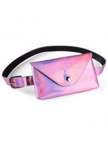 فاني حزمة الزخرفية فو جلدية نحيفة حزام حقيبة - زهري