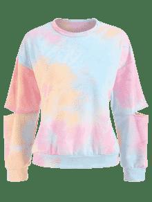 Sweatshirt Tie L Multicolor Dye Cutout E1SxqdWYww