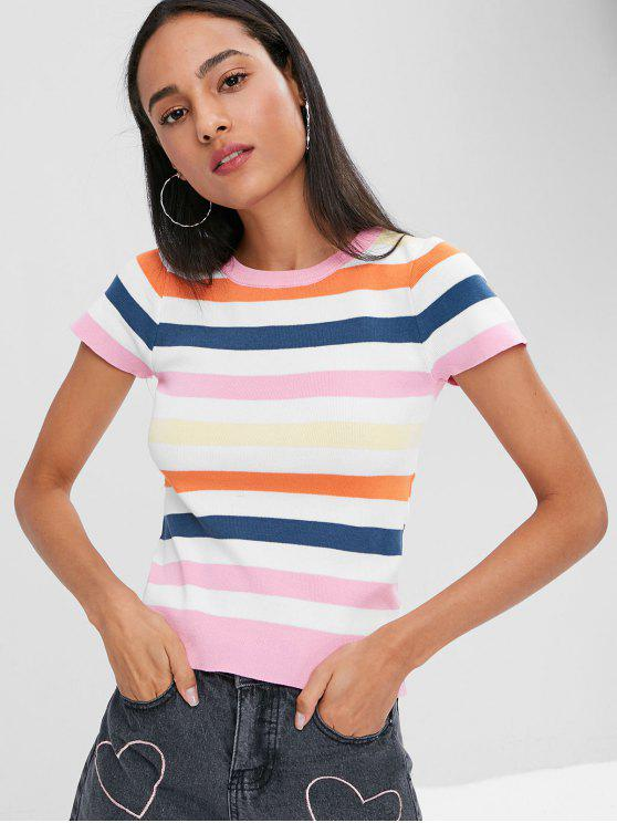 Knitted Striped Tee