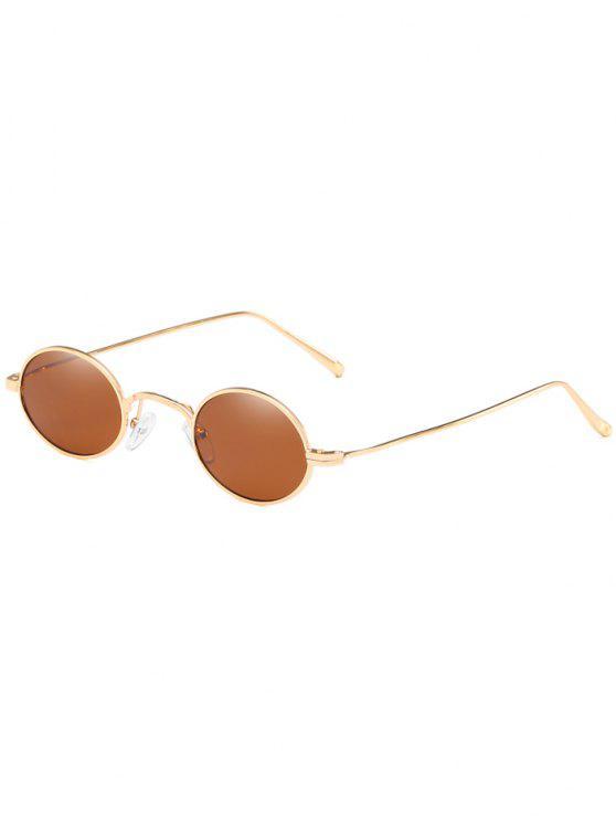 ladies Anti Fatigue Metal Frame Lightweight Oval Sunglasses - BROWN
