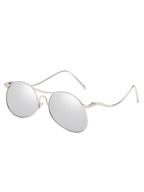 Lentille plate anti-fatigue Bent Legs Sunglasses - Gris argenté