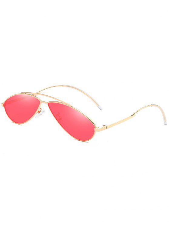 outfits Anti UV Irregular Frame Novelty Sunglasses - RED