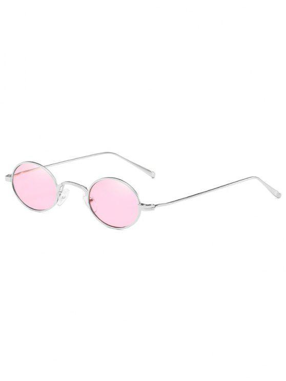 Lunettes de soleil ovales légères en métal anti-fatigue - Rose Cochon